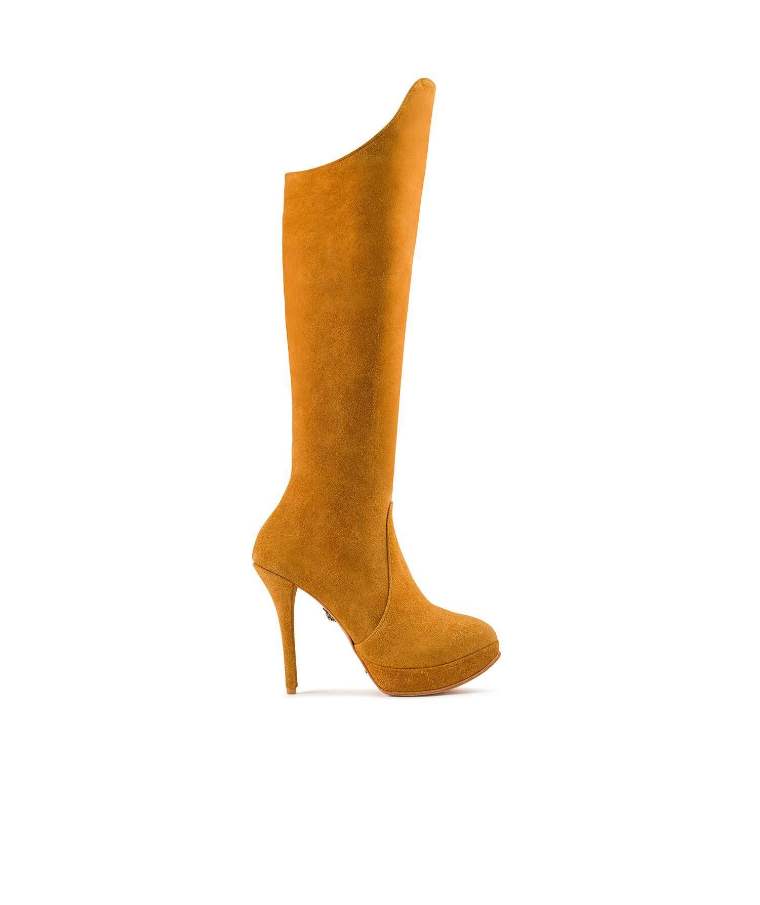 último descuento correr zapatos venta minorista BOTAS OTK MIEL CAÑA ALTA TACON AGUJA