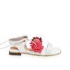 antusu garces bottier sandalias eucaplito blanco hueso rojo