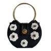 antusu cote cartera mini noir fleurs 1